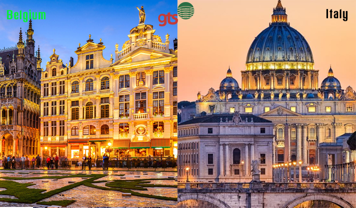 Belgium and Italy both qualify the match when it comes to trendy and friendly destinations in Europe.